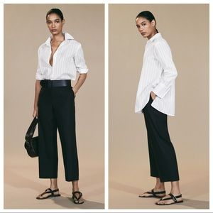 NWT. Massimo Dutti Ivory Textured Shirt. Size 10.